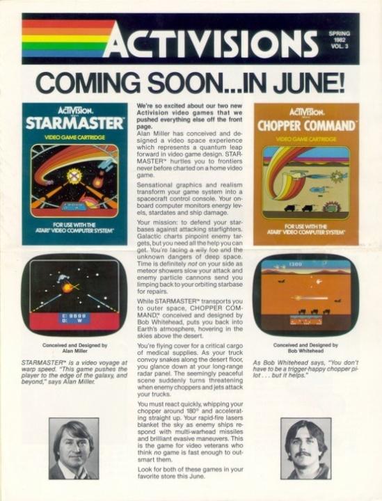 Retro Gaming / Activisions Volume 3, Spring 1982 - #Activision #Atari #Atari2600 - http://www.meg...